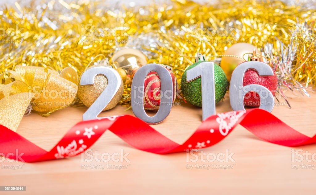New year decoration, Closeup on 2016 royalty-free stock photo