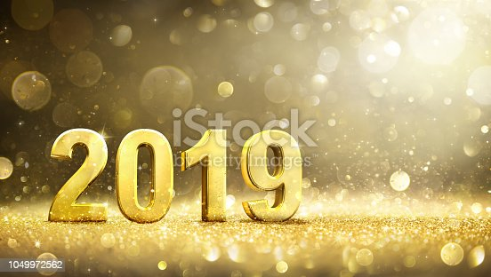 istock 2019 -  New Year Decoration - Greeting Card 1049972562