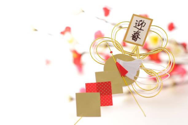 new year decoration of japanese culture - мидзухики стоковые фото и изображения
