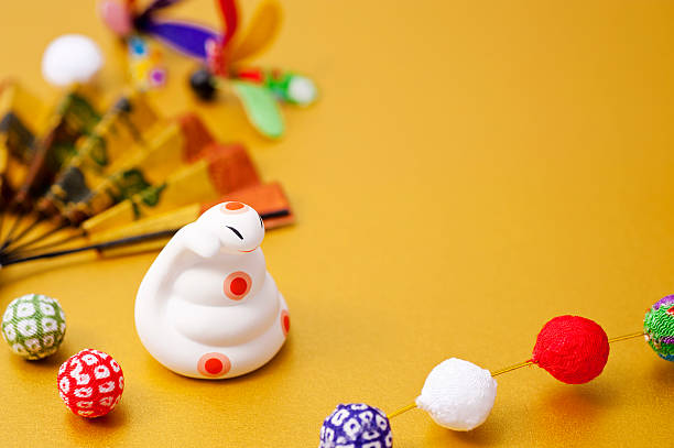 New Year decorations and the snake of the Zodiac figurine - Photo