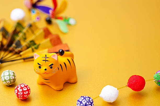 New Year decorations and tiger Zodiac figurine - Photo