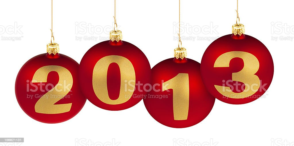 2013 new year digits made of decoration red balls royalty-free stock photo