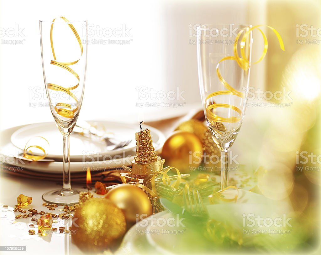 New Year dinner royalty-free stock photo