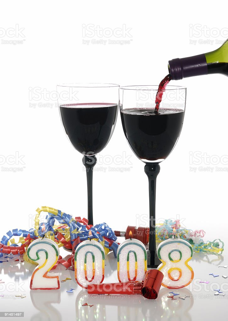 new year drink royalty-free stock photo