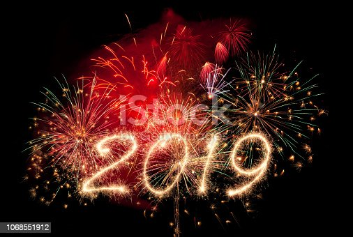 istock New year fireworks and 2019 1068551912