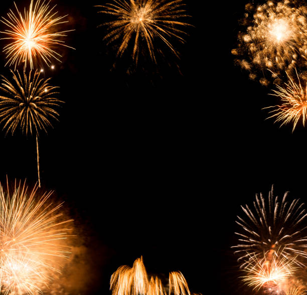 New Year fireworks background, new year wishes New Year fireworks background, new year wishes concept 2020 2029 stock pictures, royalty-free photos & images