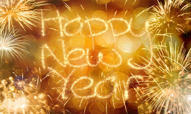 New Year fireworks background New Year fireworks golden bokeh background 2020 2029 stock pictures, royalty-free photos & images