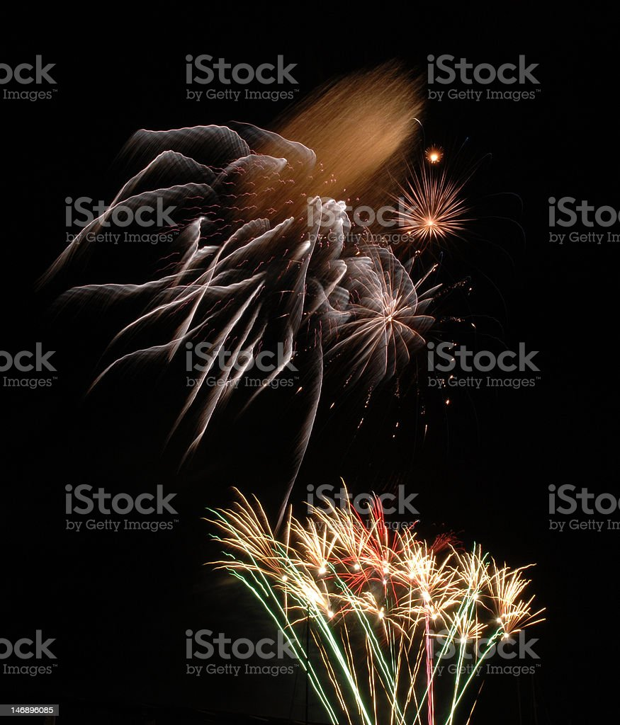 New Year Fireworks stock photo
