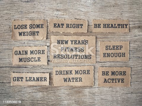 478203597 istock photo New Year Fitness Resolutions concept. 1133536519