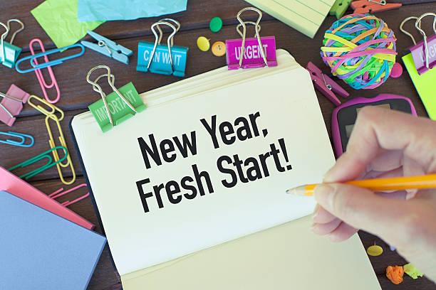 New Year Fresh Start stock photo