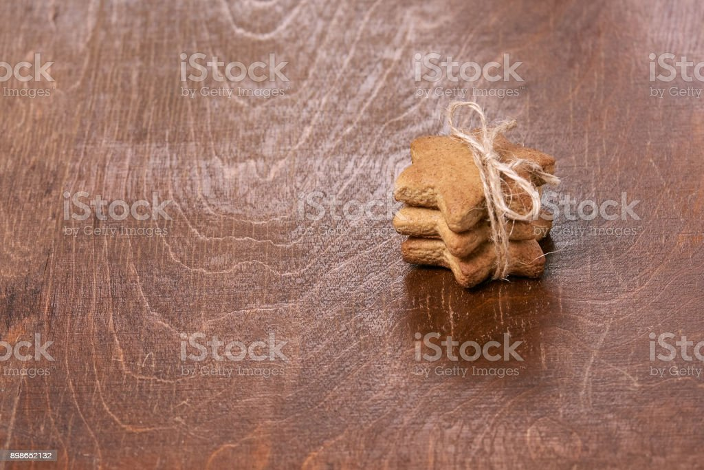 New Year gift. Gingerbread Cookie stock photo