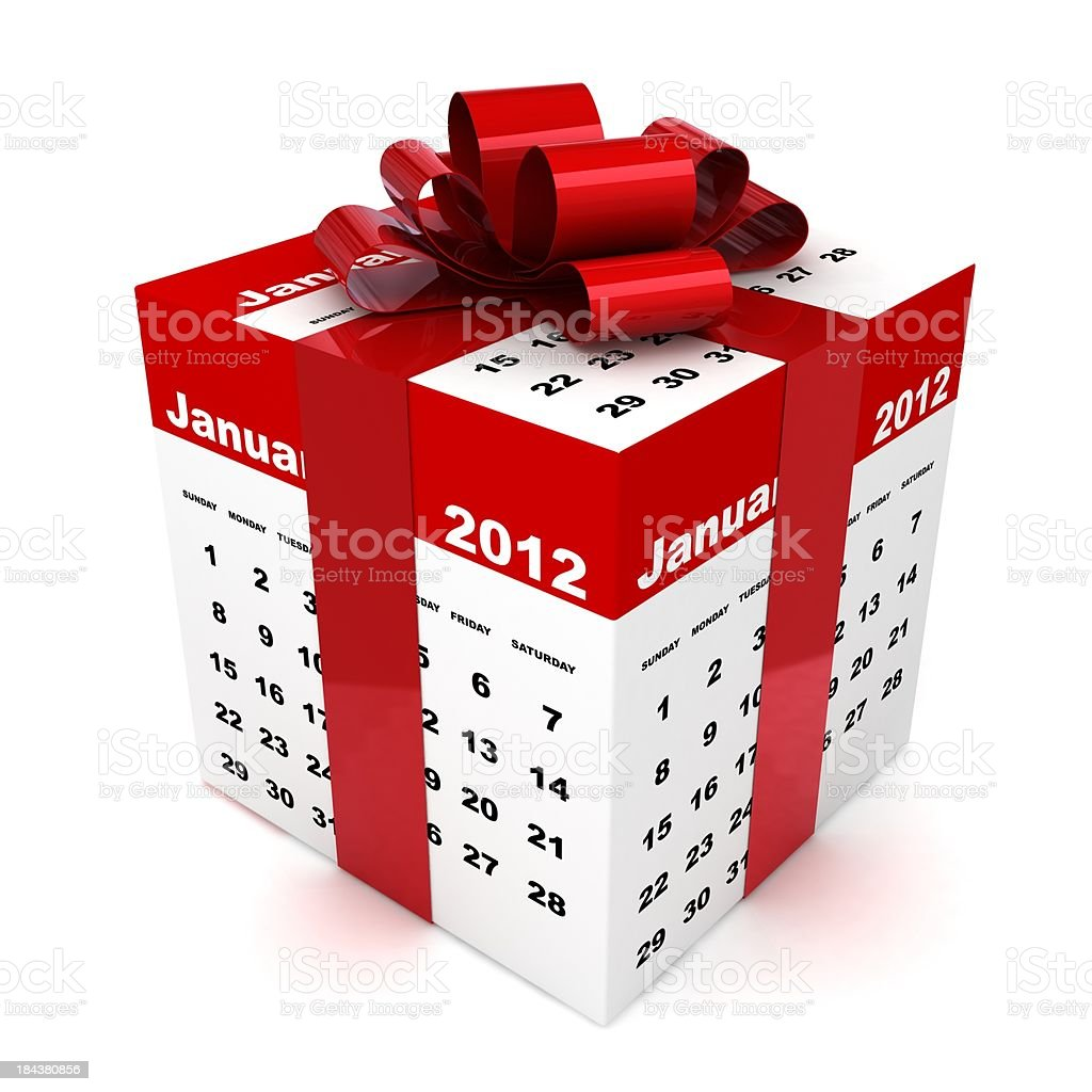 New Year Gift royalty-free stock photo