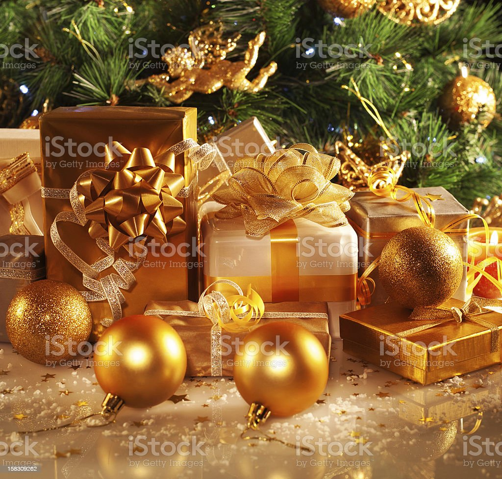 New Year gifts stock photo