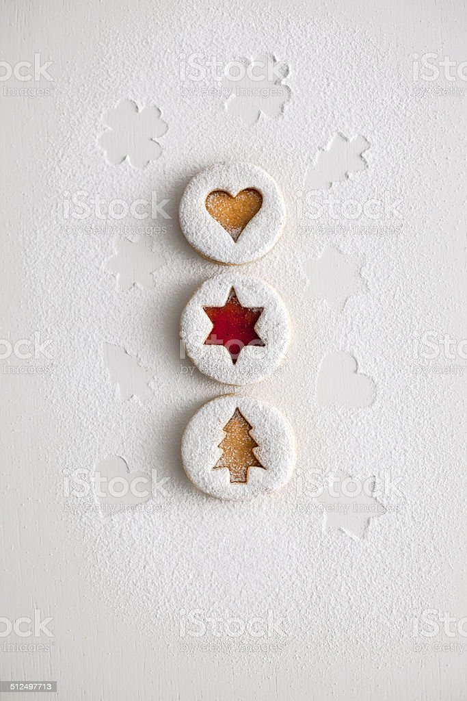 new year gingerbread cookies stock photo