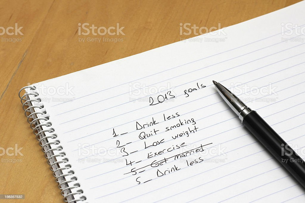 New Year Goals 2013 royalty-free stock photo