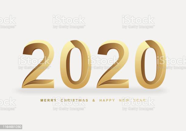 2020 new year golden font background