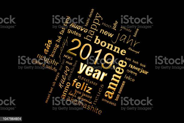 New year greeting card 2019 multilingual word cloud golden letters on picture id1047564924?b=1&k=6&m=1047564924&s=612x612&h=orqqd2 18fdcwixyvjpsarww6tniybldexzusrhbky0=