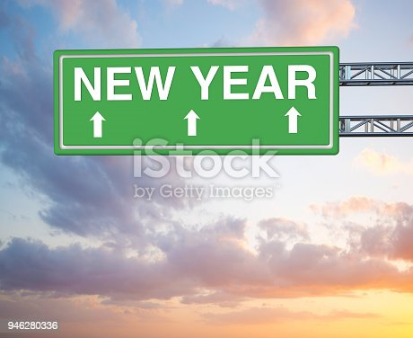 istock New year highway sign 946280336