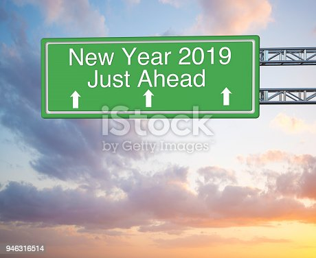 istock New year highway sign 946316514