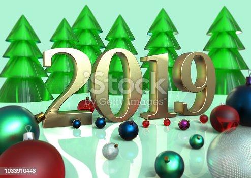 505891566istockphoto New Year holiday. Christmas. 1033910446