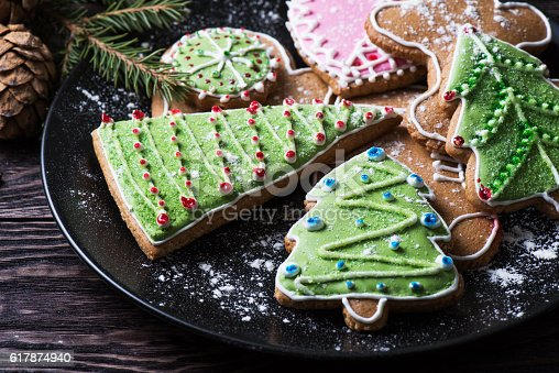 istock New year homemade gingerbread 617874940