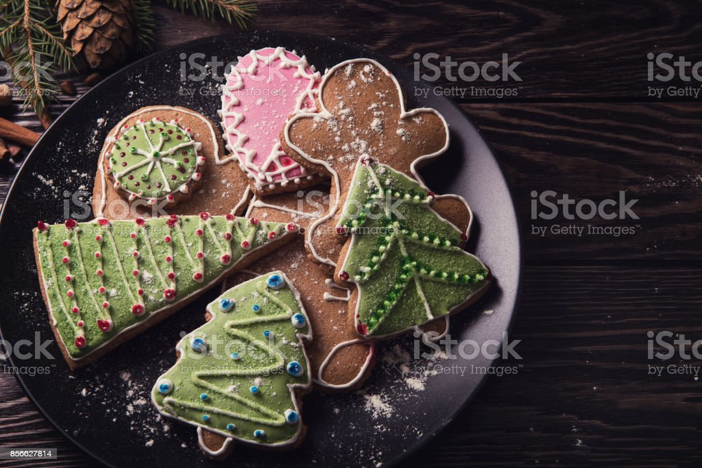 New year homemade gingerbread - foto stock