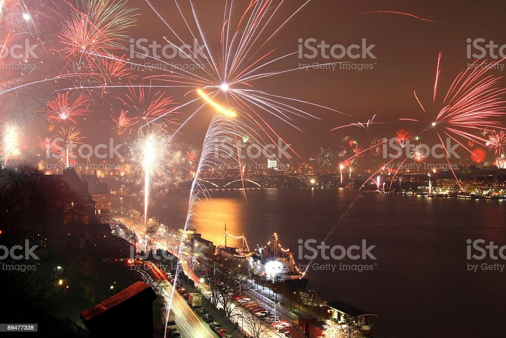 New Year in Stockholm royalty-free stock photo