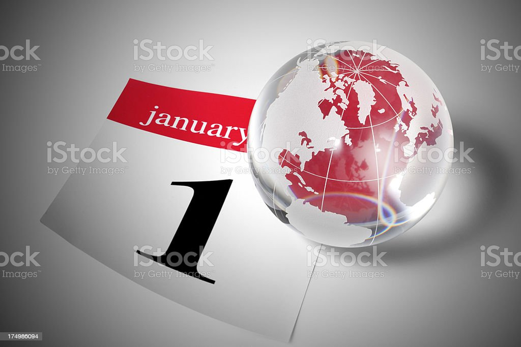 New year in the world. royalty-free stock photo
