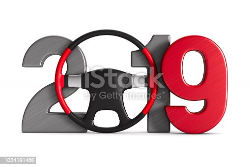 istock 2019 new year. Isolated 3D illustration 1034191486