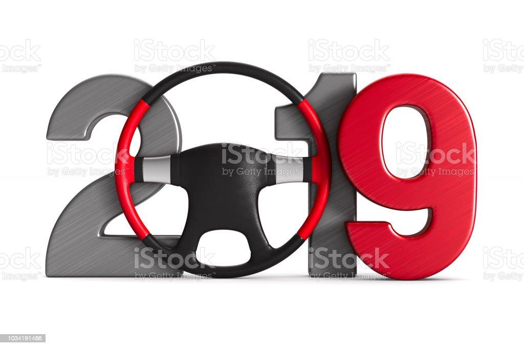 2019 Neujahr. Isolierte 3D-Illustration – Foto