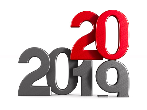 istock 2020 new year. Isolated 3D illustration 1178267199
