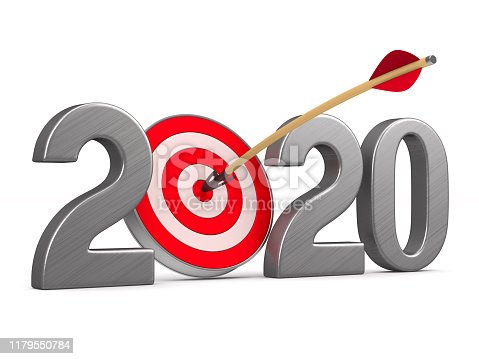 919544754 istock photo 2020 new year. Isolated 3D illustration 1179550784