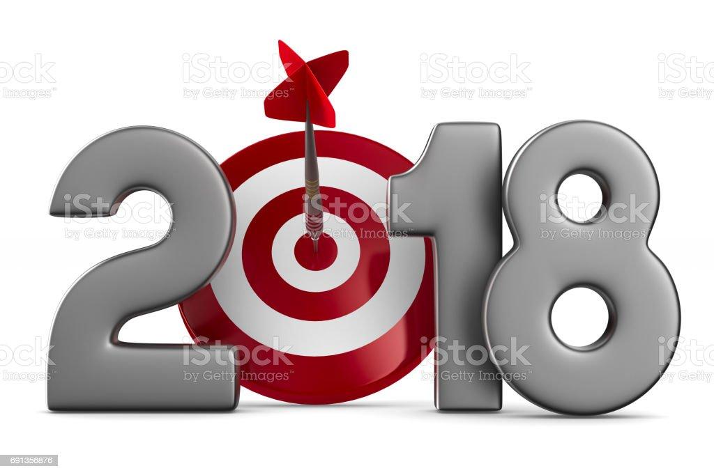 2018 Neujahr. Isolierte 3D-Illustration – Foto