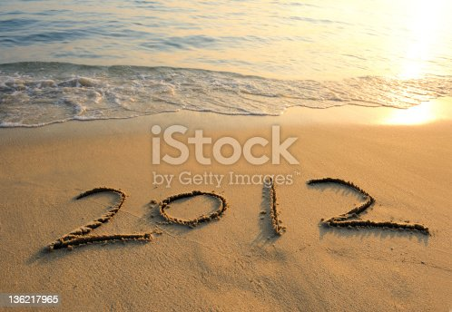istock new year message on the sand beach 136217965