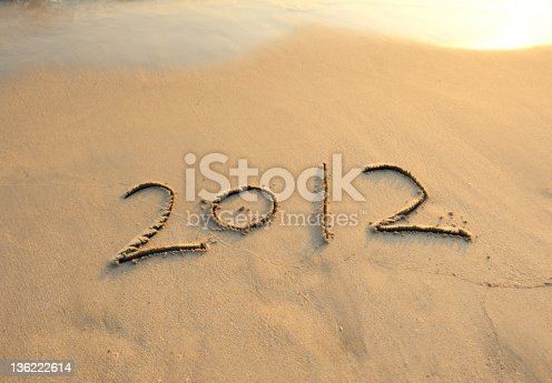 istock new year message on the sand beach 136222614