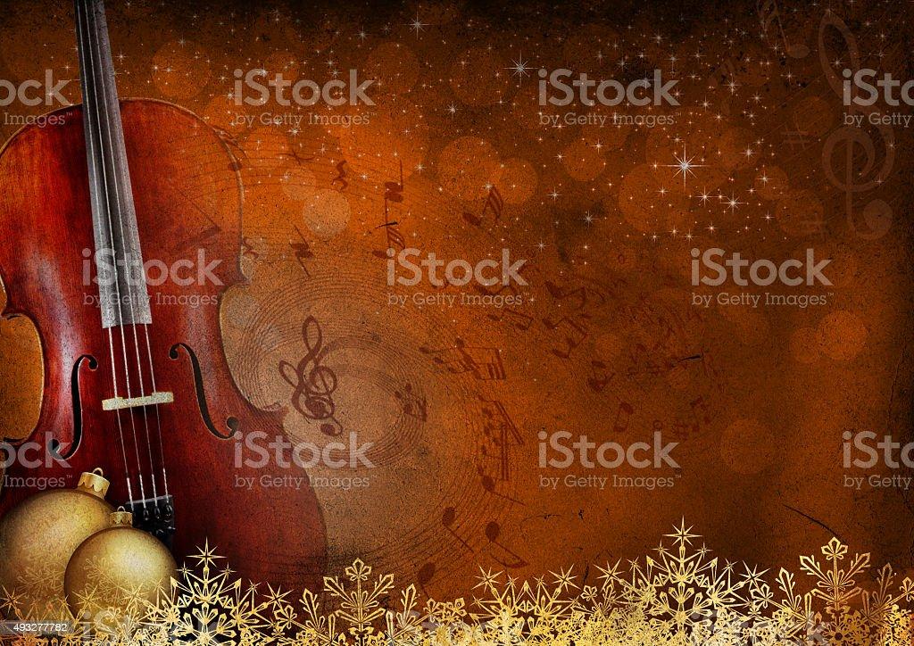 New Year music background stock photo