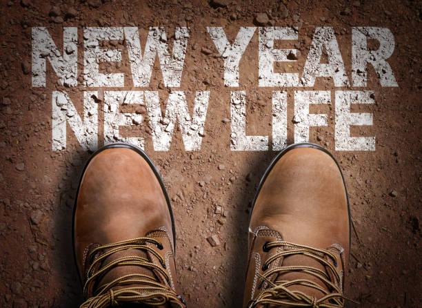 New Year New Life stock photo