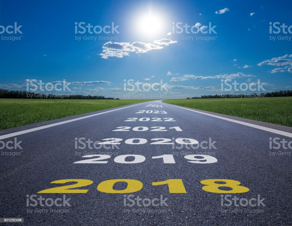 New year of 2018 stock photo