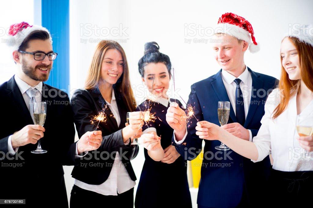 New year office party photo libre de droits