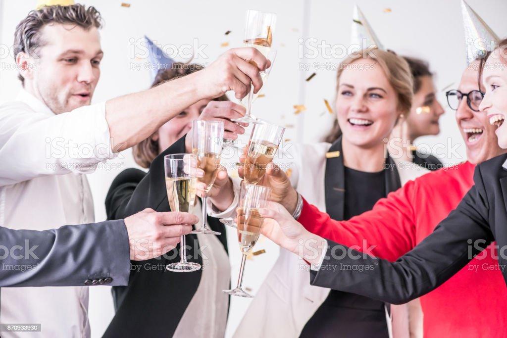 New Year party de bureau - Photo