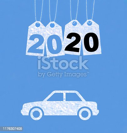 istock New year on the clouds, Car, 2020 1176307405