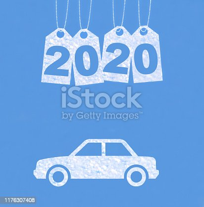 istock New year on the clouds, Car, 2020 1176307408