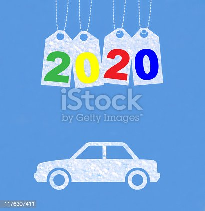 istock New year on the clouds, Car, 2020 1176307411