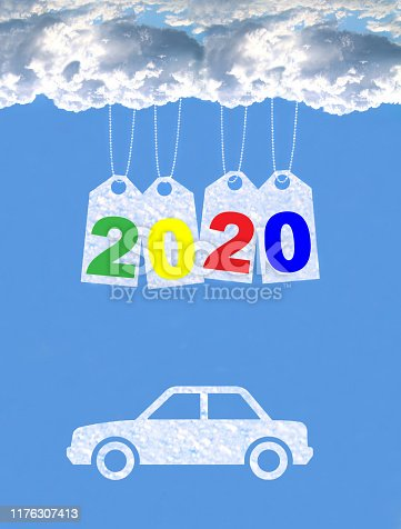 istock New year on the clouds, Car, 2020 1176307413