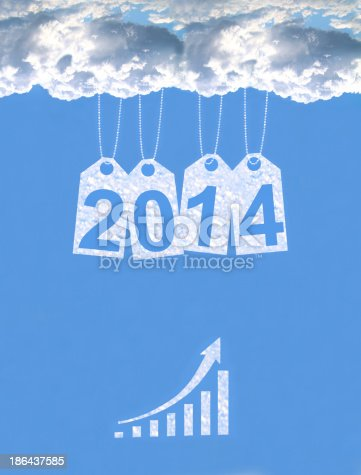 1004788900 istock photo New year on the clouds 186437585