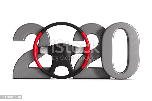 istock 2020 new year on white background. Isolated 3D illustration 1178952248
