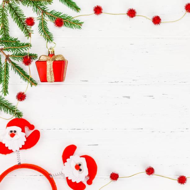 neujahr oder weihnachten flach legen frame - zitate weihnachten stock-fotos und bilder