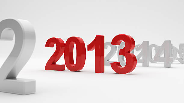 New year 3d illustration of 2013 year on white background. Soft focus 2013 stock pictures, royalty-free photos & images