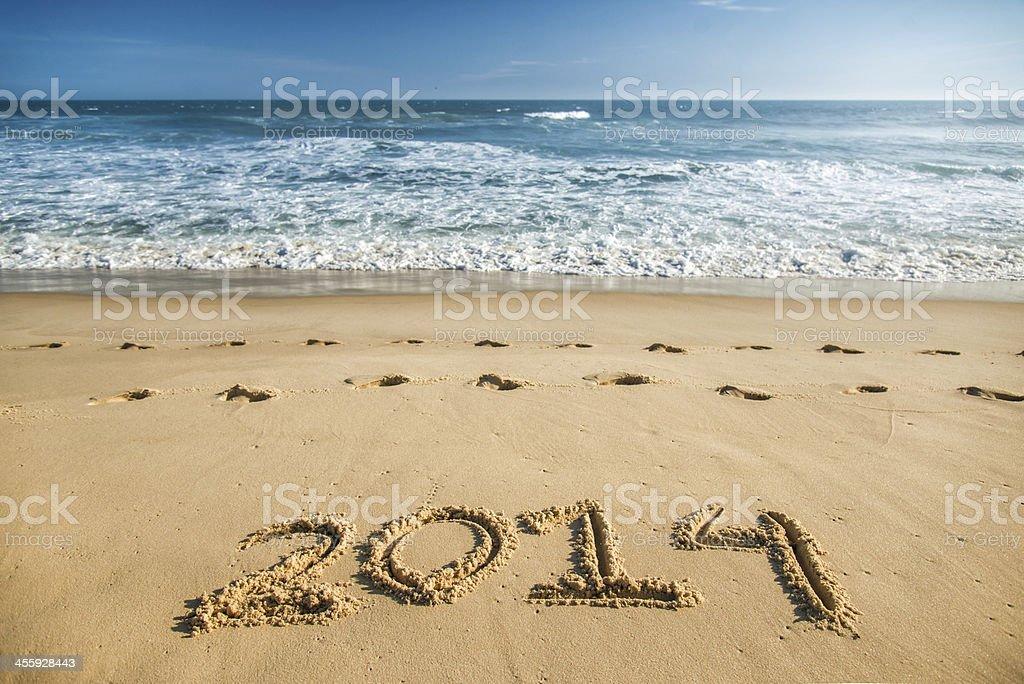2014 - New Year royalty-free stock photo