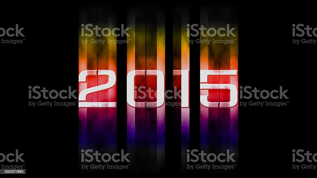 2015 new year stock photo